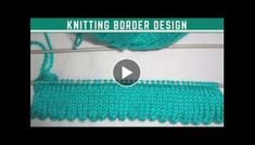 Knitting Beautiful Border Design in Hindi Crochet Flower Tutorial, Crochet Flowers, Crochet Ideas, Our Code, Floral Letters, Crochet Girls, Magic Circle, Diy Ribbon, Border Design