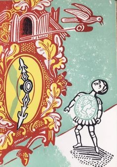 Illustration by Edward Bawden from 'The Sixpence that Rolled Away' by Louis MacNeice, 1956