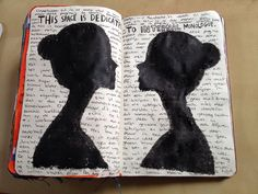 Inter monologue page.. your own silhouettes, like you're talking to yourself! #wreckthisjournal #wtj