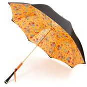 Exclusive Black Floral Ladybird Luxury Ladies Double Canopy Umbrella by Pasotti