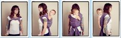 Double Rebozo Shoulder to Shoulder / DRS2S  {from Babywearing 102: Wrapping 360 Project}   ***long wrap carry