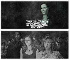 Molly Weasley and Lily Potter.  This hit me in all my feels. :(