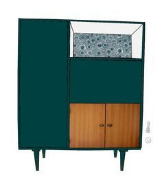 "Armoire, secrétaire vintage ""Lucien"" avant relooking ♥ Prix après relooking : 680€ Colorful Furniture, Vintage Furniture, Fireplace Wall, High Quality Furniture, Round Dining, Mid Century Furniture, Neutral Colors, Mid-century Modern, Diy Home Decor"