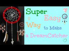 DIY: Super Easy Way to Make a Dreamcatcher   Ловец снов: Легко и просто! - YouTube