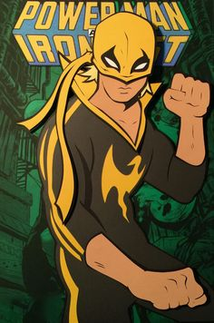 Iron Fist Paper Cut-Out - DocGold13, After Sanford Greene