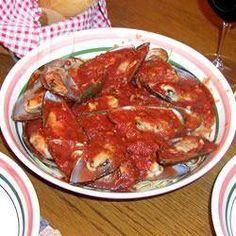 Photo recette : Moules à la sauce tomate