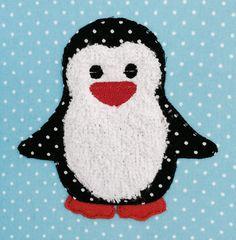 Stickmuster - Pinguin Doodle Stickdatei - ein Designerstück von feinliebshop bei DaWanda