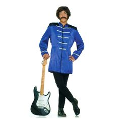 British Explosion (Blue) Adult Circus Costume Description: Starting a band for lonely hearts? Grab your sitar, clarinet, and kazoo! This fun British Explosion Jacket will still Blue Costumes, Fancy Costumes, Halloween Party Costumes, Adult Costumes, Adult Halloween, Rock N Roll, British Costume, Band Jacket, Celebrity Costumes