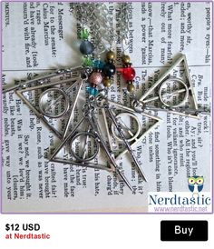 Harry Potter Deathly Hallows & Wand House Necklaces