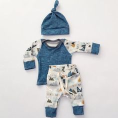 3 Piece Mountain Printed Set