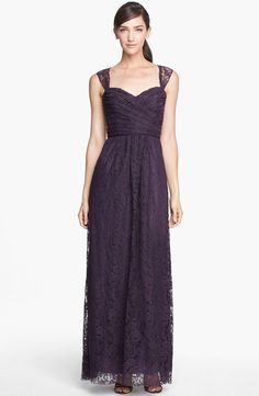 Lace from Amsale is here! Love this maxi style in 'Raisin'