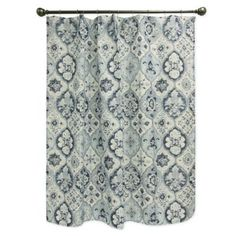 Buy Bacova Montage Shower Curtain in Indigo from Bed Bath & Beyond