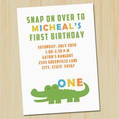 Preppy alligator baby shower invitations by cutiestiedyeboutique alligator birthday invitation alligator theme by partykickdesign 1000 filmwisefo