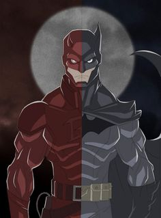 DC-Marvel Crossover Created by Kevin Shah #batman #daredevil
