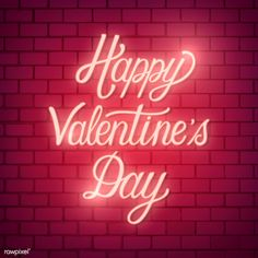 Valentines day words Vectors, Photos and PSD files Happy Valentines Day Pictures, Valentines Day Words, Holiday Pictures, Neon Lighting, Outdoor Lighting, Wall Calender, Outdoor Flood Lights, Neon Words, Dates