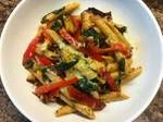Another one! yum, penne pasta with spinch and chicken!