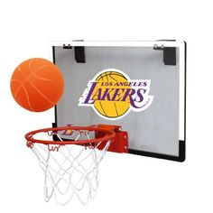 NBA Los Angeles Lakers Game On Indoor Basketball Hoop  amp  Ball Set  Licensed Products http d151976e9