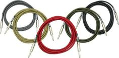 """DiMarzio Instrument Cable Black & Silver 18 Foot by DiMarzio. $29.99. DiMarzio Instrument Cables are top rated by Guitar Player Magazine. They easily passed Guitar Player's """"Zildjian cymbal guillotine test"""" and """"jump rope test"""" of 9/97, demonstrating how well-built and reliable they are in real world conditions. In order to carry the DiMarzio name, they have to sound great too. Guitar Player describes them as """"quiet and transparent with a clear balance from lows ..."""