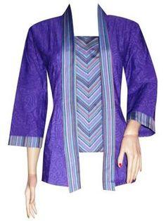 Blus Batik Embos Lurik Kutubaru XL