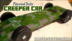 Pinewood Derby - Minecraft Creeper Car