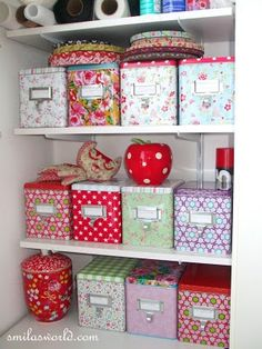i want these lovely tin boxes!