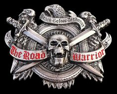 Sword Swords Skull Skulls Pewter Belt Belts Buckle Buckles Boucle de Ceinture #theroadwarrior #roadwarriorbuckle #deathbeforedishonor #skulls #skullbeltbuckle #skullbuckles #coolbuckles #beltbuckle