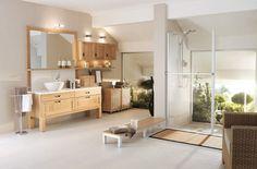 mueble de baño blanco con madera - Buscar con Google