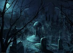 Cemetery, Scenery, Background, Anime Background, Anime Scenery, Visual Novel Scenery, Visual Novel Background