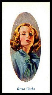 Cigarette Card - Actress, Greta Garbo | by cigcardpix