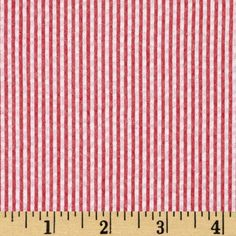 Kaufman Classic Seersucker Stripe Red/White from @fabricdotcom  From Kaufman Fabrics, this very lightweight woven cotton blend seersucker fabric is light and summery. Made with combed cotton, this versatile fabric is perfect for stylish summer suits, dresses, heirloom projects, children's apparel. It can also be used for lightweight curtains, home décor accents and even bedding accessories.