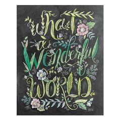 What a Wonderful World - Print #everyday #Garden #Gifts