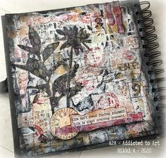 Addicted to Art: A little numerical journalling Art Journal Pages, Art Journals, Journal Ideas, The 5th Of November, October, Mixed Media Artists, Distress Ink, Tim Holtz, Altered Art