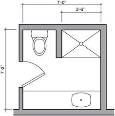 Bathroom Designs Plans small bathroom floor plans 3 option best for small space | mimari