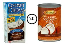Instead of Heavy Cream, Try Coconut Milk - but what's the difference between canned and cartons?