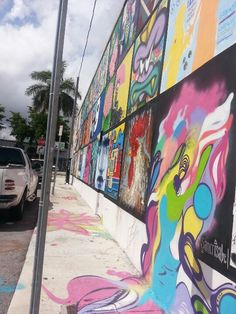 The Good Wall Project - Miami's newest mural project - Calle Ocho, 8th Street - Little Havana at The Goodwill Superstore - 982 SW 8th Street in downtown Miami. #Miami#Art #Artists #GoodWallProject