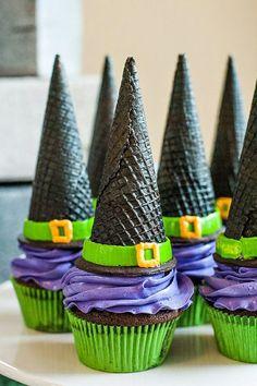Zauberhüte für Halloween leckere Ideen