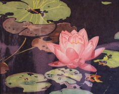 Lily Pond art quilt by Lenore Crawford