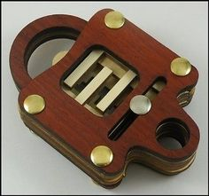 Schloss-Dick-Wooden-Lock-Puzzle-Brain-Teaser-Shipping-is-Free