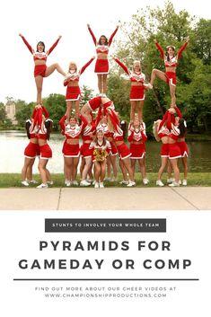 $24.99 10+ pyramids of varying skill levels! #pyramid #cheerleading #stunt
