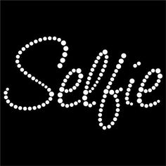 Hotfix diamante fashion youth selfie transfer iron on motif for t-shirt bag Sty2