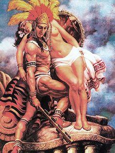 The Legendary Mexican Artist Jesus Helguera -- Lowrider Arte Magazine Lowrider Art, Maya, Arte Latina, Latino Art, Aztec Culture, Mexican Heritage, Brown Pride, Aztec Warrior, Aztec Art