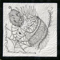 Pat Ferguson, CZT, dropped by yesterday with her mom to pick up some Zentangle supplies. She also brought some small quilts. As soon as we s...