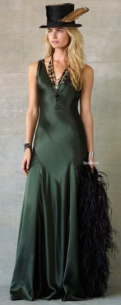 Ralph Lauren | Calista Gown. Beautiful dress but the hat just looks dumb.