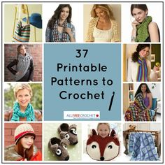 37 Popular Printable Crochet Patterns