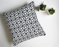 Printed Pillow / Cushion. Black and white print by LolaAndMeShop, £35.00