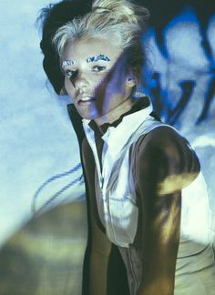 Playing with projections. Editorial for Livefast Mag featuring Rachel Yampolsky in Skingraft NYC.