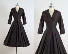 Vintage 50s Dress  vintage 1950s dress  blue от millstreetvintage