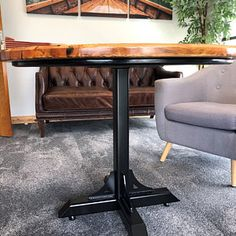 Bistro Cafe Table Base Heavy Duty Industrial Steel Pedestal with Gussets Gates, Metal Table Frame, Welded Furniture, Industrial, Table Cafe, Le Tube, Trestle Dining Tables, Large Table, Steel Table