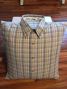 I will take your shirt and turn it into a 18in x 18in pillow* COVER WITH PILLOW. If you would like just a PILLOW COVER see link below. Pillows can be created from any style shirt (tee-shirt, button down, denim jacket, sweat shirt, blouse). Not sure? contact me at #diypillowcoversshirt
