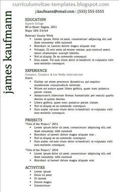 Cv Resume Sample Fair The 41 Best Resume Templates Ever  The 41 Best Resume Templates .